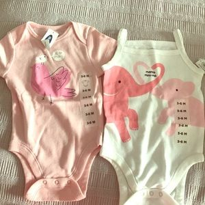 Set of 2 Old Navy bodysuits. NWT
